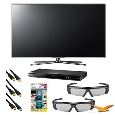 UN55D7000 55 inch 1080p 240hz 3D LED HDTV 3D Kit with Blu Ray