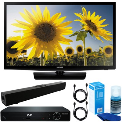 24` 720p HD Slim LED TV Clear MR120 + HDMI DVD Player + Bluetooth Sound Bar