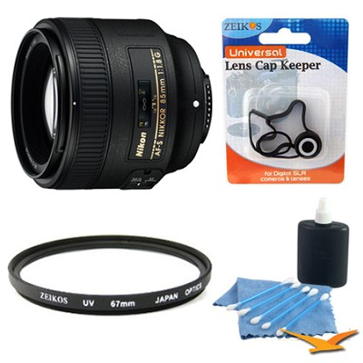 85mm f/1.8G AF-S Nikkor Lens w/ UV Filter, Lens Cap Keeper & Cleaning Kit