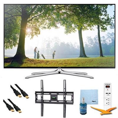 UN55H6350 55` Smart 1080p HDTV Clear Motion 240 Wi-Fi Plus Mount & HookUp Bundle