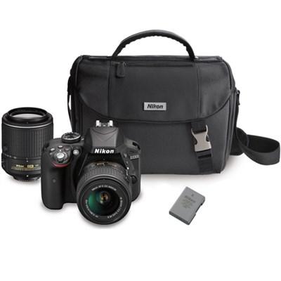 D3300 DX-format Digital SLR w/ 18-55mm + 55-200mm DX VR II Zoom Lenses Bundle