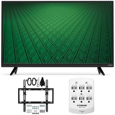 D-Series D32hn-D0 32` Class Full-Array LED HD TV Flat/Tilt Wall Mount Bundle