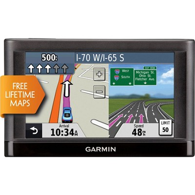 nuvi 42LM 4.3` GPS Navigation System with Lifetime Maps Refurb 1 Year Warranty
