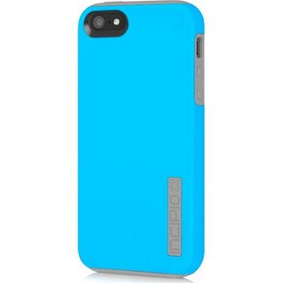 Dual PRO Case for iPhone 5 - Cyan Blue / Haze Gray