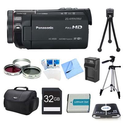 HC-X920K 3MOS Ultrafine Wi-Fi HD Camcorder 32GB Bundle