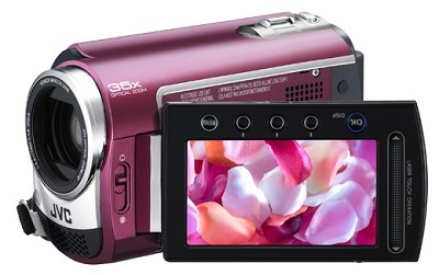 GZMG330  Hard Disk HDD/micro SD Hybrid Camcorder (Ruby Red)