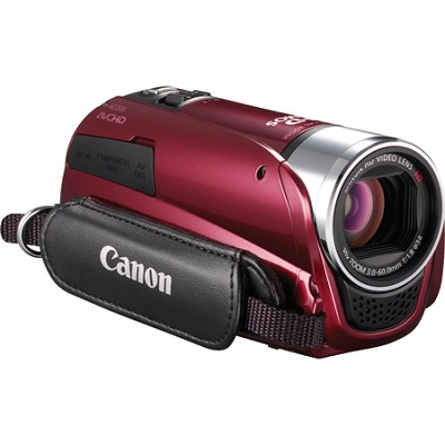 VIXIA HF R20 8GB Flash Dual SD 1080p HD Red Camcorder w/ 3.0` Touchscreen