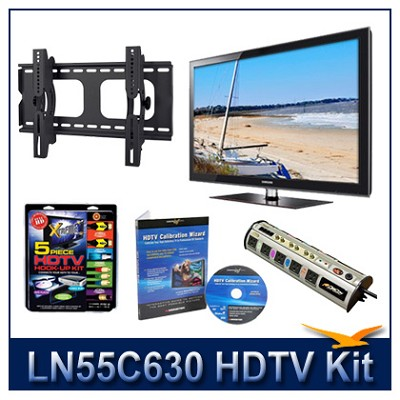 LN55C630 - 55` HDTV + Tilt Mount + Hook-Up + Power Protection + Calibration DVD