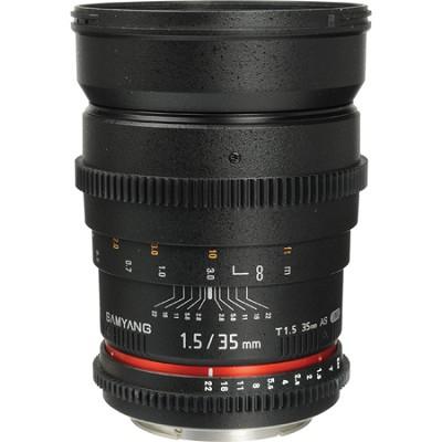 35mm T1.5 `Cine` Wide-Angle Lens for Canon VDSLR - OPEN BOX