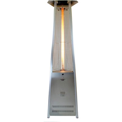 56,000 BTU Liquid Propane Gas Lava Lite KD Patio Heater - Stainless Steel