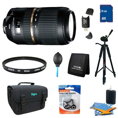 AF 70-300mm f/4.0-5.6 SP Di VC USD XLD Lens Pro Kit for Canon EOS