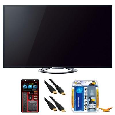 KDL-55W900A 55` LED Internet HDTV Surge Protector Bundle