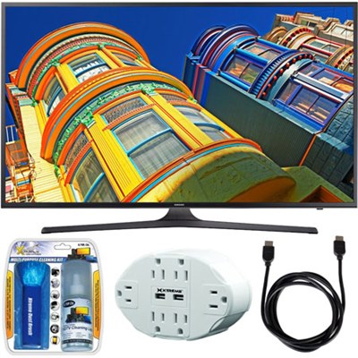 UN55KU6290 - 55` Class 6-Series 4K Ultra HD Smart LED TV w/ Accessory Bundle