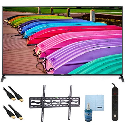 55` XBR55X850B 3D 4K UHD TV Motionflow 240 Smart TV Tilt Mount & Hook-Up Bundle