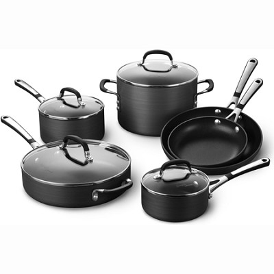 10-pc. Simply Hard-Anadized Nonstick Cookware Set - SA10H