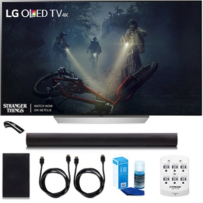 OLED65C7P - 65` C7 OLED 4K HDR Smart TV w/LGSH7B 4.1ch Wi-Fi Sound Bar Bundle