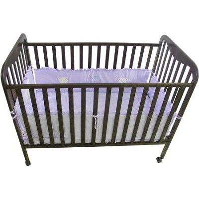 Full Size 3 Level Solid Wood Baby Crib - Espresso