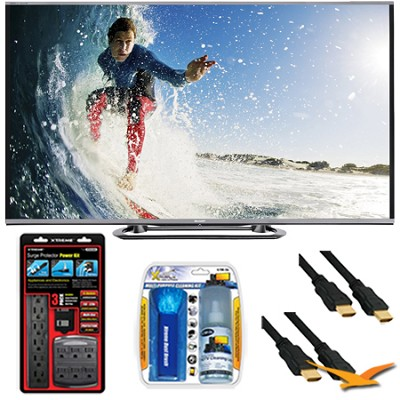 LC-80LE857U Aquos 80-Inch 3D Wifi 240Hz 1080p LED with Surge Protector Bundle