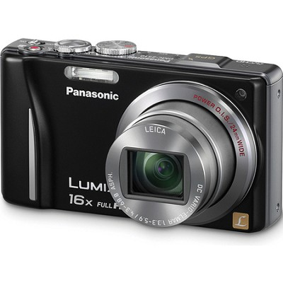 Lumix DMC-ZS10 14.1 MP Black Camera w/16x Zoom & GPS
