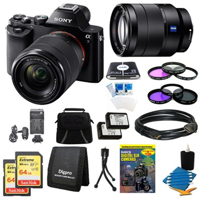 Alpha 7K a7K Digital Camera, 24-70mm Lens, 2 64GB SDXC Cards, 2 Batteries Bundle