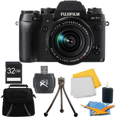 X-T1 16.3MP Full HD 1080p Video Mirrorless Digital Camera 18-55mm Lens 32GB Kit