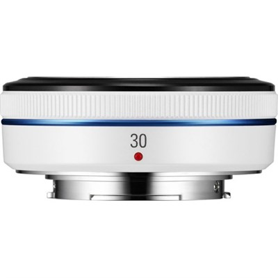 Compact 30mm F2.0 White NX Pancake Lens for NX Series Cameras