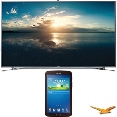 UN65F9000 - 65` 4K Ultra HD 120Hz 3D Smart LED TV 7-Inch Galaxy Tab 3 Bundle