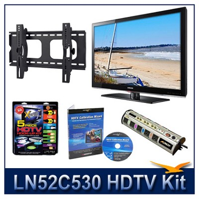 LN52C530 - 52` HDTV + Tilt Mount + Hook-Up + Power Protection + Calibration DVD
