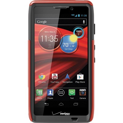 Defender Series Case for Motorola RAZR MAXX HD Retail Packaging - Bolt Orange