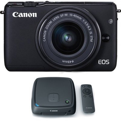 EOS M10 Mirrorless Camera w/ EF-M 15-45mm IS STM Lens + 1TB CS100 Hub - Black