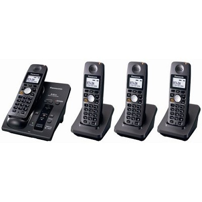 KX-TG6054B 5.8 GHz Cordless Telephone w/Digital Answering machine and 4 Handsets