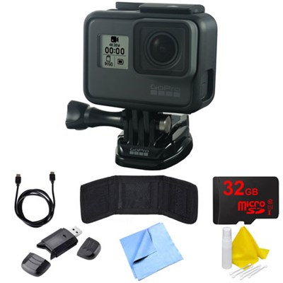 HERO6 Black Action Camera with Essential Accessory Bundle