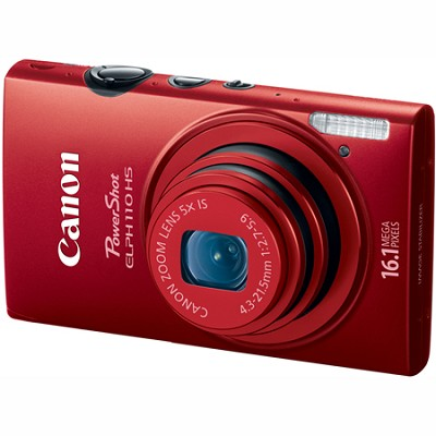 PowerShot ELPH 110 HS 16.1MP CMOS Red Digital Camera 5x Opt Zoom 1080p HD Video