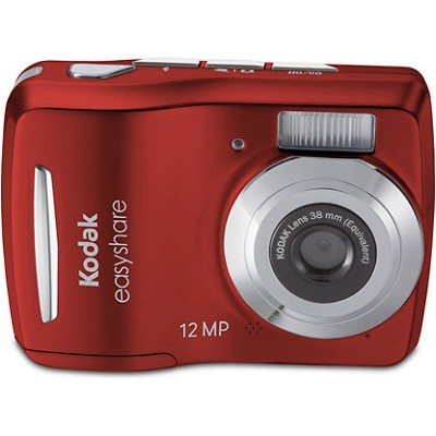 EasyShare C1505 12MP 5x Zoom 2.4 inch LCD Red Digital Camera