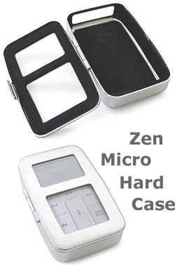 Aluminum hard case for Zen Micro