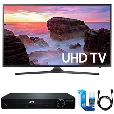 50` 4K Ultra HD Smart LED TV (2017 Model) w/ HDMI DVD Player Bundle