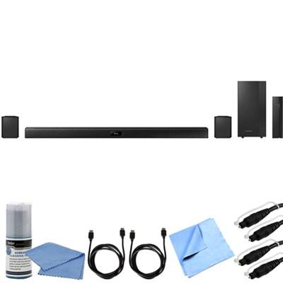 HW-J370 - 4.1 Channel 200 Watt Wireless Audio Bluetooth Soundbar Bundle