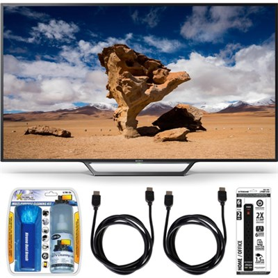 KDL-48W650D 48-Inch Class Full HD 1080P TV with Built-in Wi-Fi Accessory Bundle