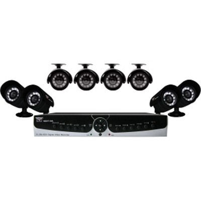 Poseidon-85 8 Channel H.264 Smart DVR with 8 Indoor/Outdoor Night Vision Cameras