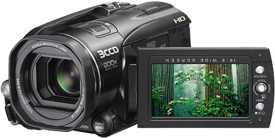 GZ-HD3 Everio 60-gigabyte Hard Drive 3-CCD High-definition Camcorder