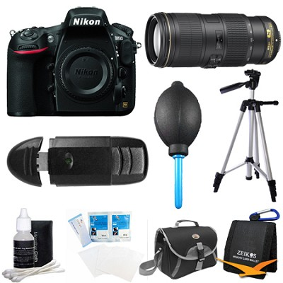 D810 36.3MP 1080p HD DSLR Camera Body with 70-200mm f/4G ED VR Pro Lens Bundle