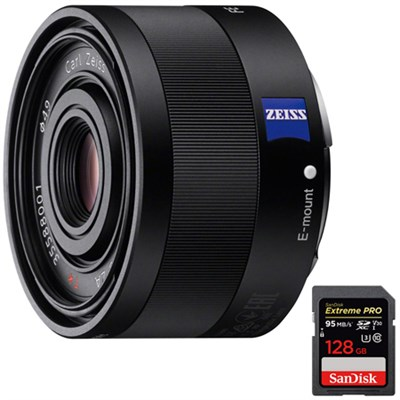 Sonnar T* FE 35mm F2.8 ZA Full Frame Camera E-Mount Lens+128GB Memory Card
