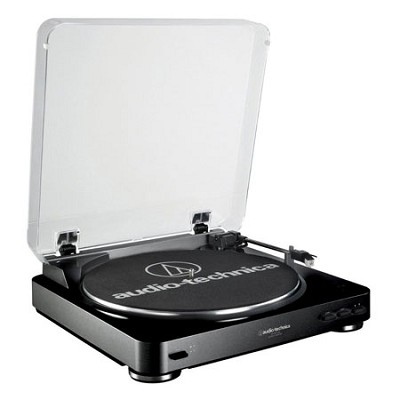 AT-LP60 Fully Automatic Stereo Turntable System- Black Refurbished
