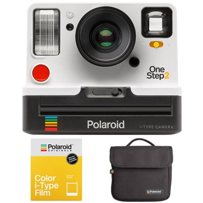 OneStep2 i-Type Instant Film Camera + Camera Bag + Color Film