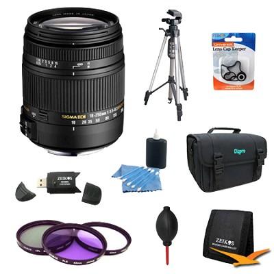 18-250mm F3.5-6.3 DC OS HSM Lens for Nikon AF w/ 62mm Filter Lens Kit Bundle
