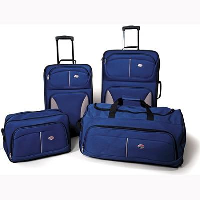 Fieldbrook Four-Piece Luggage Set (Cobalt Blue)