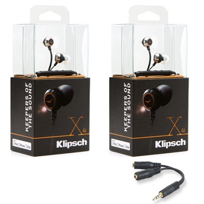 X4i In-Ear Headphones w/ In-Line Remote/Mic for iPod/iPhone/iPad 2-Pack Bundle