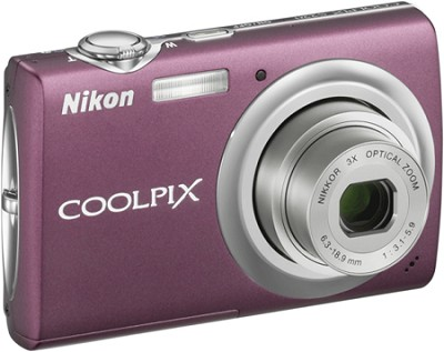 COOLPIX S220 Digital Camera (Plum) - OPEN BOX