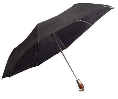 Black 42` Automatic Open/Close Wood Handle Umbrella