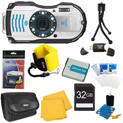 WG-4 16MP Silver Waterproof Shockproof Crushproof Digital Camera Kit